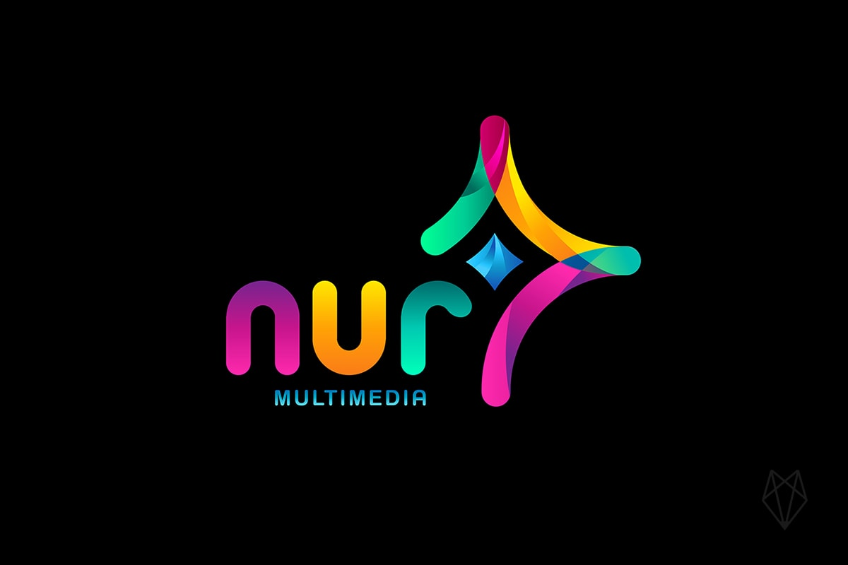 nur media logo design